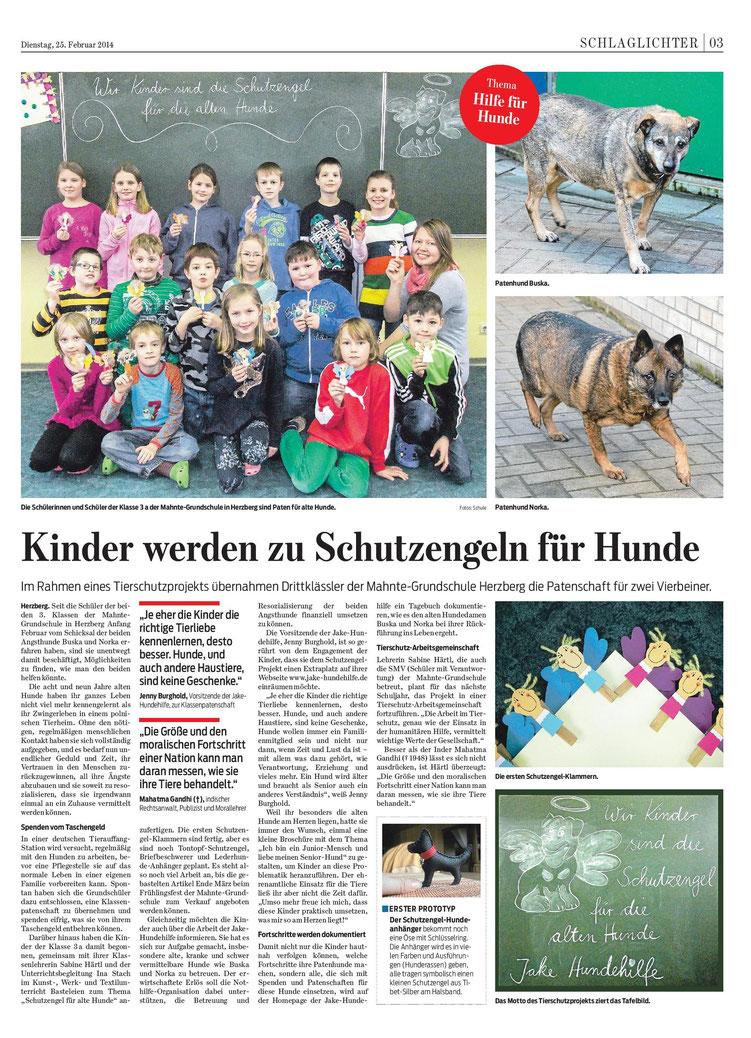 HarzKurier - Kinder werden zu Schutzengeln für Hunde