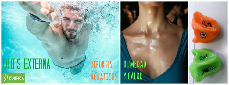 La otitis externa, qué es y cómo evitarla. Protectoes de baño a medida. Centro Auditivo Cuenca.