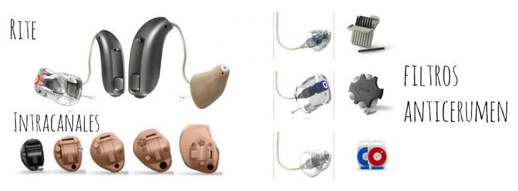 Mantenimiento de los audífonos intracanales y RITE. Cambio de filtros anticerumen.