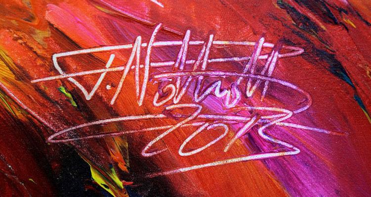 Modernes Gemälde. Signatur vom Kunstmaler Peter Nottrott.