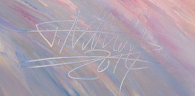 Magenta Adventure. Ein abstraktes Gemälde vom Kunstmaler Peter Nottrott.