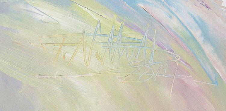 Signatur des abstrakten Bildes von Peter Nottrott