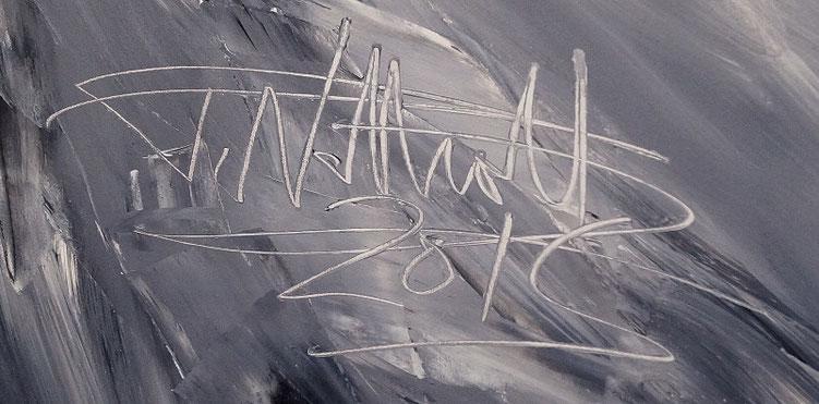 Sehr großes Gemälde vom Hamburger Kunstmaler Peter Nottrott.