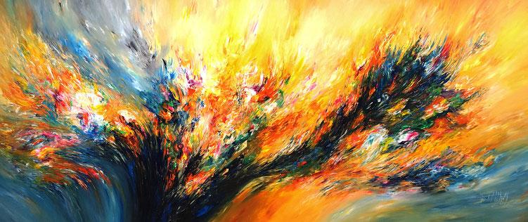 Riesiges Acrylbild auf Leinwand. Abstrakte, moderne Malerei.  Großformat