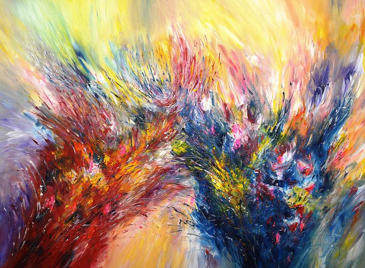 Abstraktes Gemälde vom Hamburger Künstler Peter Nottrott.