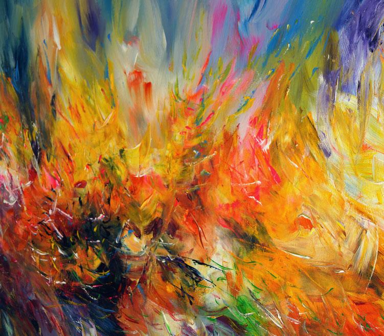 yellow cloud l 1 abstrakte gem lde moderne malerei online kaufen. Black Bedroom Furniture Sets. Home Design Ideas
