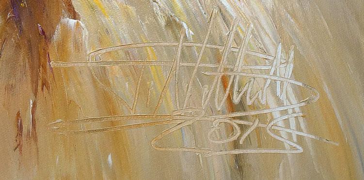 Signatur von Peter Nottrott und das Entstehungsjahr 2015