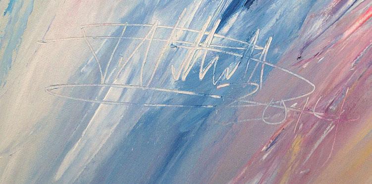Signatur und Datierung, Kunstmaler Peter Nottrott 2014