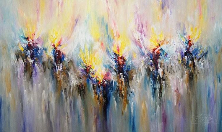 Großes, abstraktes Gemälde. Moderne Malerei.