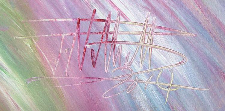 Signatur des Kunstmalers Peter Nottrott