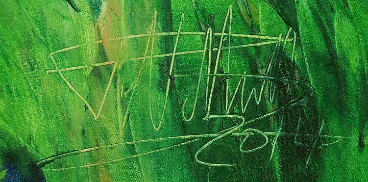Signatur vom Kunstmaler Peter Nottrott