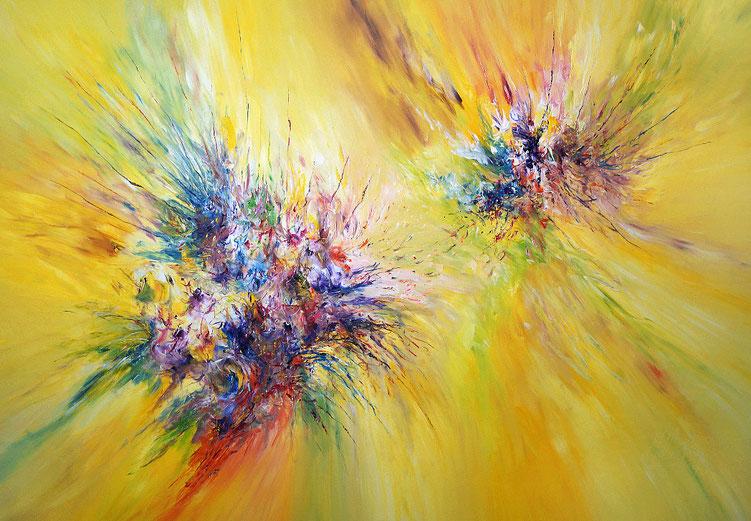 Gelbes, abstraktes Gemälde