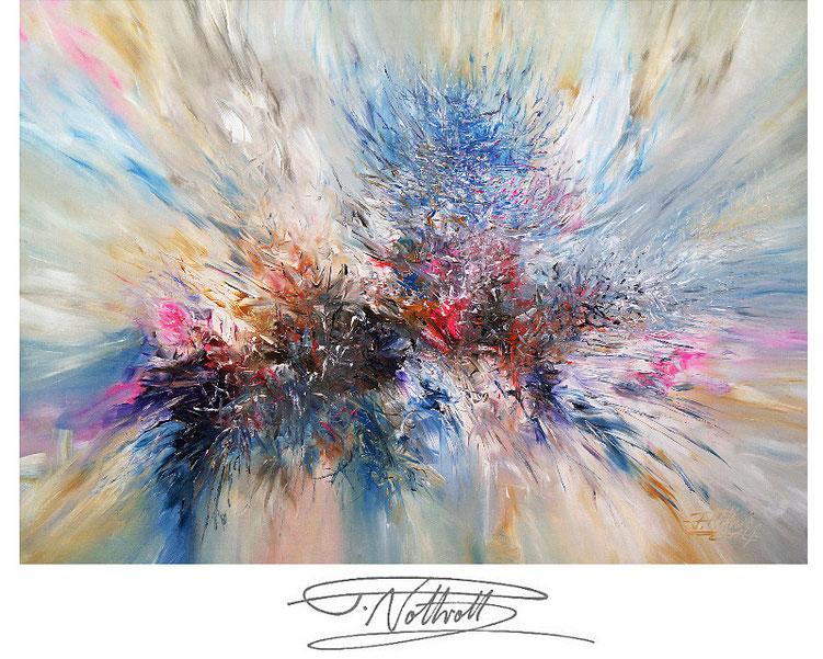 Modernes Bild vom Kunstmaler Peter Nottrott in Acrylfarben auf Leinwand.