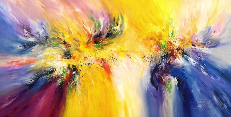 Abstraktes Gemälde mit großer Vitalität.