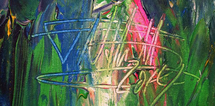 Signatur des Hamburger Kunstmalers Peter Nottrott.