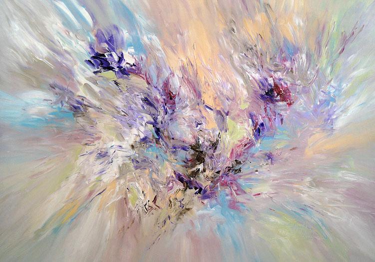 Abstraktes Gemälde in harmonischen Farben.