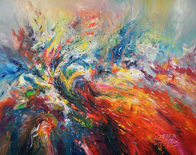 Sehr schwungvolles Gemälde vom Kunstmaler Peter Nottrott.