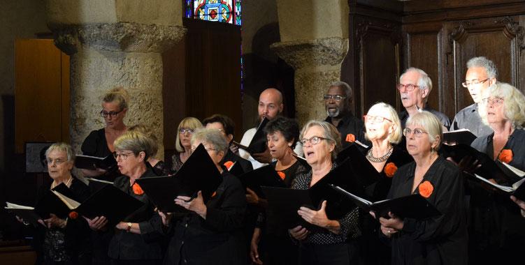 Concert en l'église des Mesnuls - choeur d'hommes