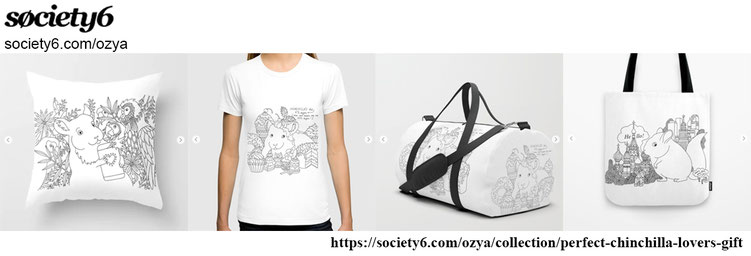 Perfect chinchilla lovers gift Art Print Society6 T-shirt Tote Bag