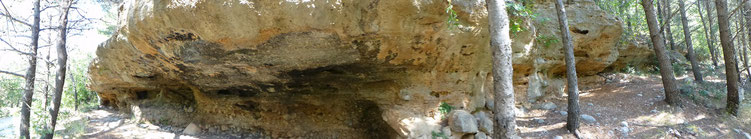 Überfallfelsen in der Velica Paklenica (Schatz im Silbersee)