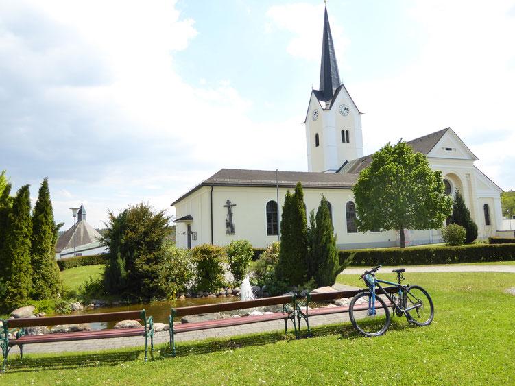 Kirche in Sankt Kanzian am Klopeinersee Kärnten