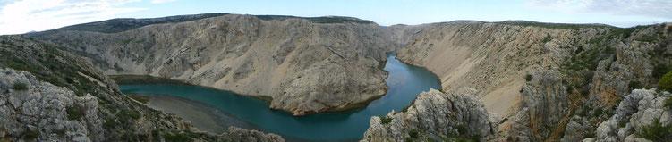 """Zrmanja Canyon """"hier waren Winnetou und Old Shatterhand zu Hause"""""""
