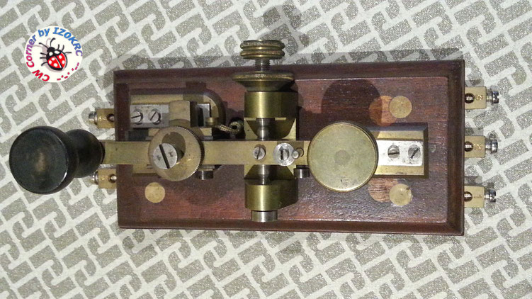 "Hasler Telegraph key  for Duplex morse system  ""in line"""""