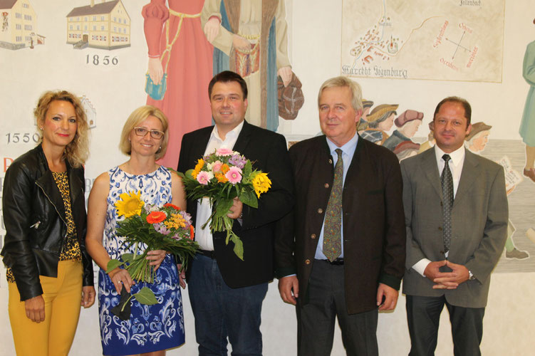 Neues Schulleitungsteam an der GMS Siegenburg - Rektor Franz Hottner und Konrektorin Brigitte Peckl