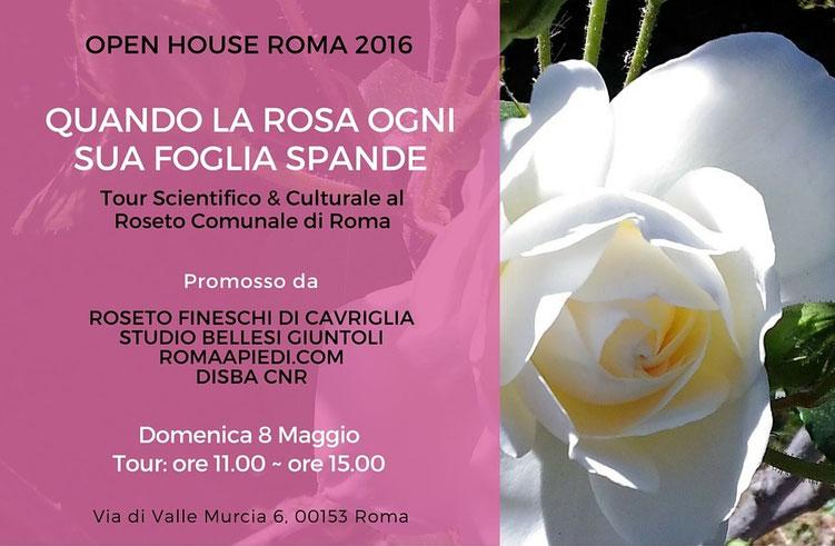 Tour Scientifico & Culturale al Roseto Comunale di Roma