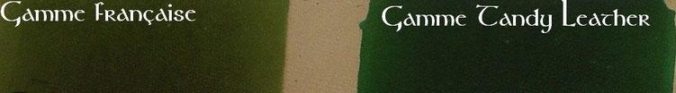 Nuancier vert teinture cuir