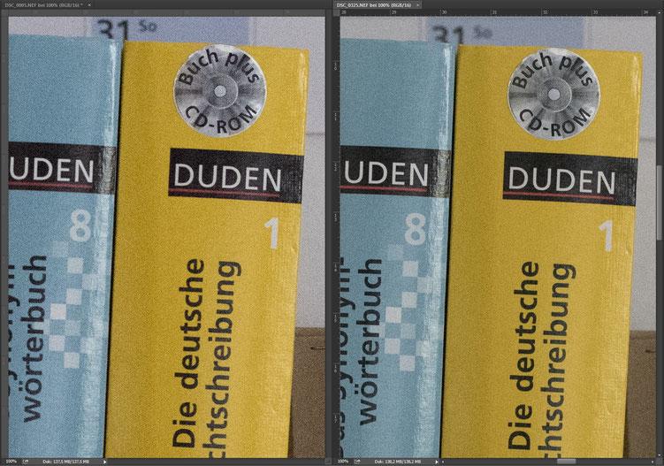 Nikon D810 vs. Nikon D750 ISO12800 RAW Vergleich compare