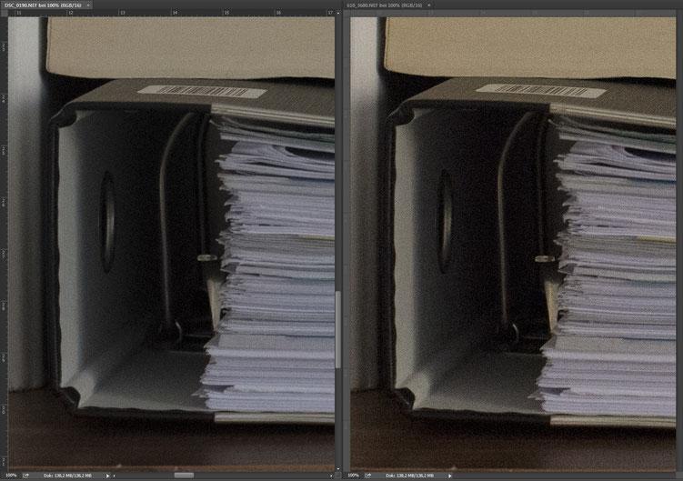 Nikon D750 vs. D610 ISO comparison