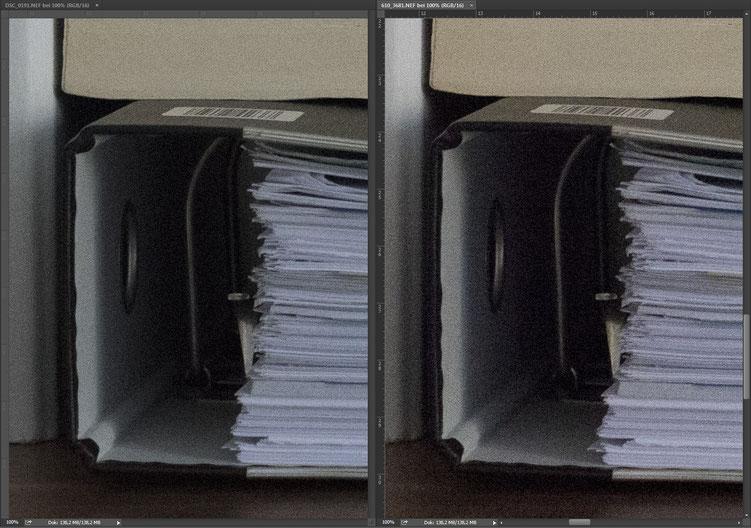 Nikon D750 vs. D610 ISO RAW comparison