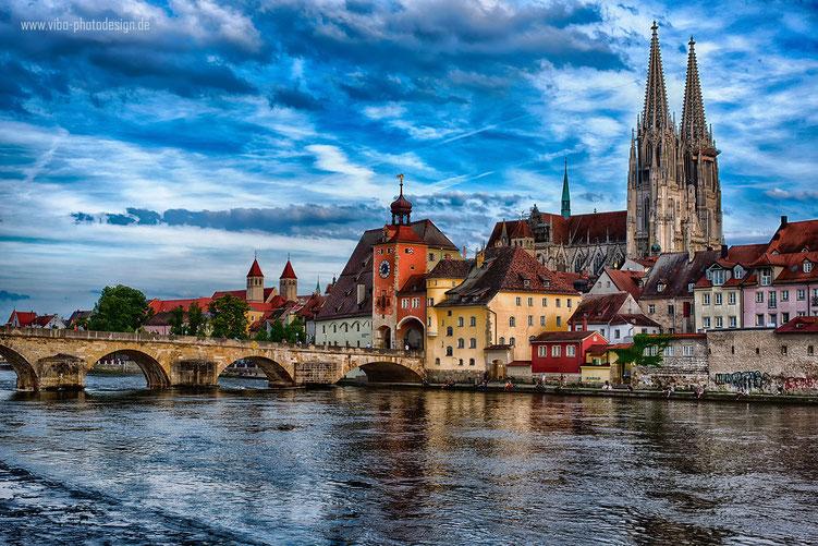 Regensburger Dom und Steinerne Brücke