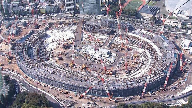 オリンピック施設 新国立競技場建設中