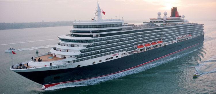 Kurzreisen Cunard Linie Mini-Kreuzfahrt Queen Mary 2 und Queen Elizabeth mit London Hotel und 1 Flug