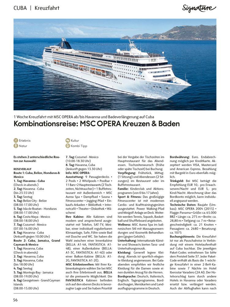 Buchen Sie hier im Kreuzfahrtbüro Reiselotsen cruise & tours Ihre Kombireise Kuba mit MSC Kreuzfahrt MS Opera incl. 2 Nächte in Havanna sowie Badeurlaub