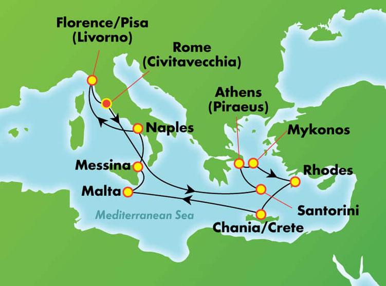 Premium all inclusive Kreuzfahrten Mittelmeer 2019 mit Norwegian Jade amerikanische Reederei Norwegian Cruise Line hier bei Reiselotsen cruise & tours buchen