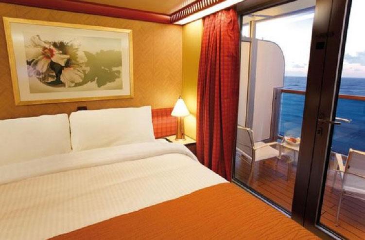 So schön können Sie Ihre Costa Kreuzfahrt geniessen Samsara Doppelkabine (z.B.Nr. 8209) mit Queen Size Bett hier bei Reiselotsen cruise & tours online buchbar