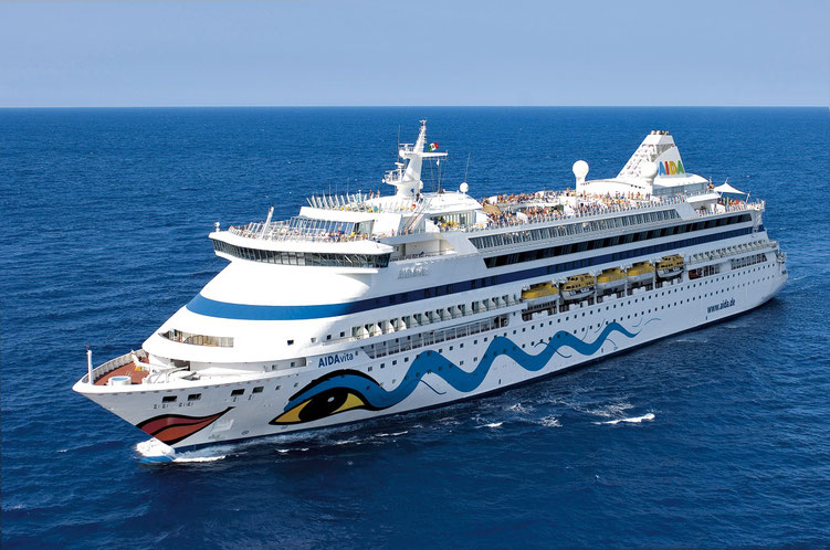 Schiff AIDAvita Kreuzfahrten ab Hamburg (c) AIDA Cruises - German Branch of Costa Crociere S.p.A.