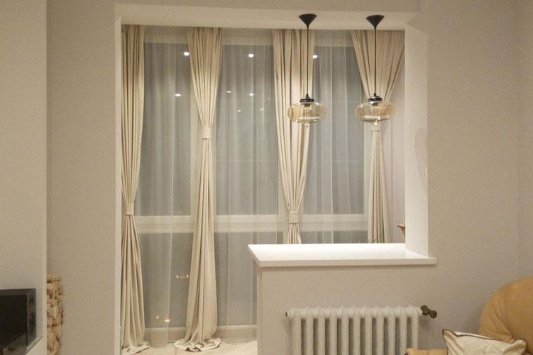 Шторы для гостиной, шторы для балкона