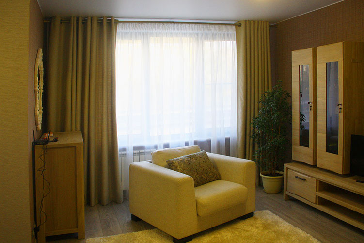 Купить шторы на люверсах для гостиной