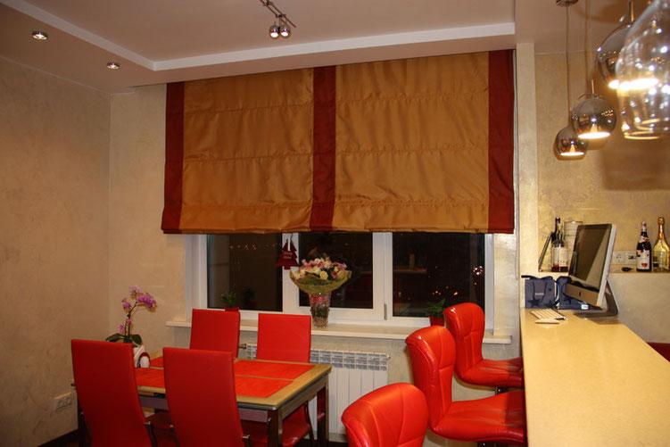 Шторы для кухни на заказ в Пушкино, Москве, Ивантеевке, Королеве недорого