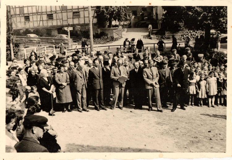1. Spatenstich Schulneubau 9.5.1950/Sammlung Arne Behre