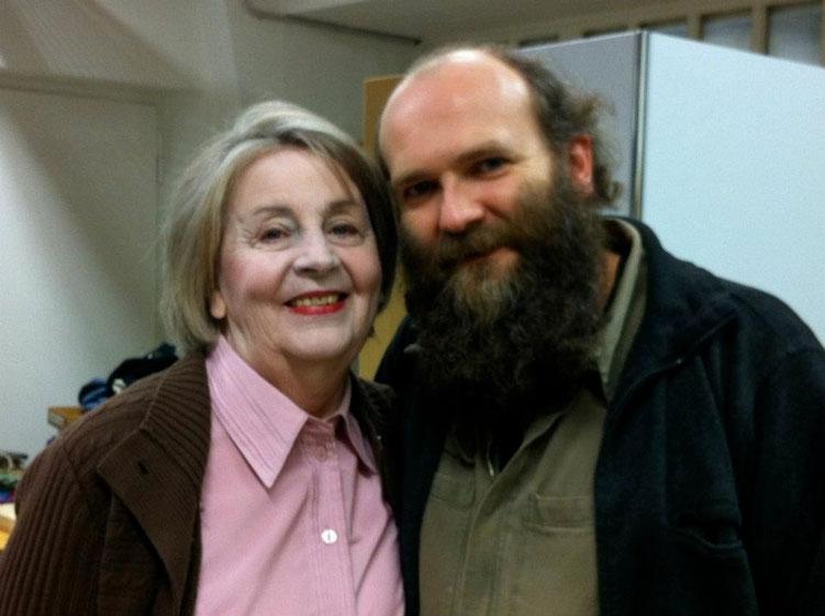 mit Vreni Brun auf dem Set von Der Tod der alten Dame 2011