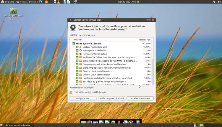 Les mises à jour sur Linux c'est quand tu veux et non pas quand le Système veut !