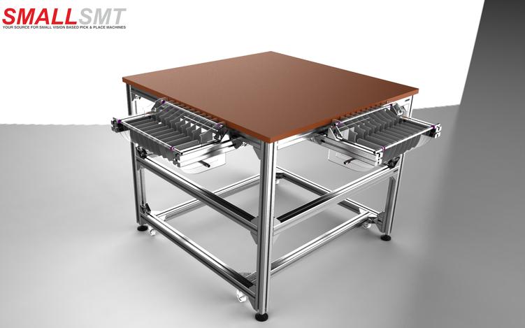 SMD Bestückungsmaschine  Arbeitstisch Reel cart