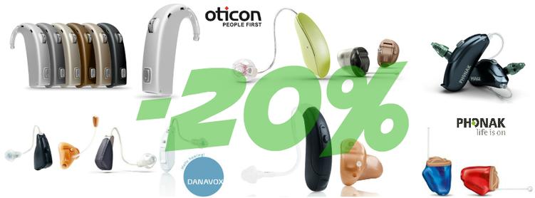 Centro Auditivo Cuenca te ofrece un -20% de descuento en todas las marcas de audífonos Phonak, Oticon y Danavox
