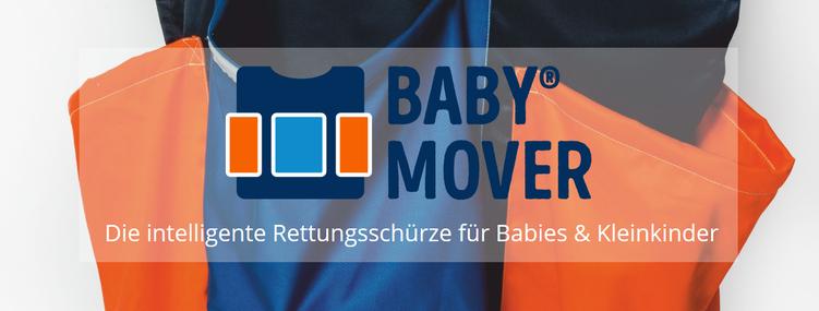 Der BABYMOVER® ist effizient - bis zu 3 Babies gleichzeitig evakuieren - einfach nur überziehen und loslegen - sicher mit geprüfte Qualität und schwer entflammbar