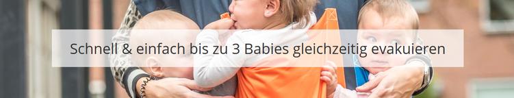 Der BABY MOVER® ist eine professionelle Evakuierungsschürze zur schnellen Notfall-Rettung von Babies und Kleinkindern aus Gebäuden und Gefahrenbereichen. pri-medical Medizinprodukte